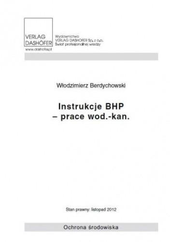 Okładka książki Instrukcje BHP- prace wod.- kan