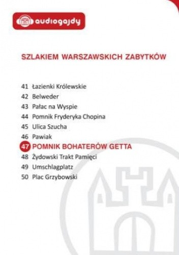Okładka książki Pomnik Bohaterów Getta. Szlakiem warszawskich zabytków