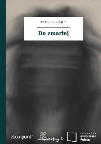 Okładka książki Do zmarłej