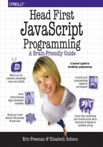 Okładka książki Head First JavaScript Programming. A Brain-Friendly Guide