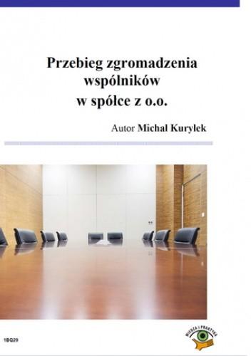 Okładka książki Przebieg zgromadzenia wspólników w spółce z o.o