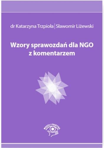 Okładka książki Wzory sprawozdań dla NGO z komentarzem
