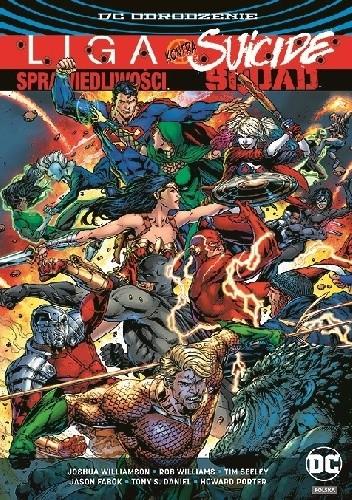 Okładka książki Liga Sprawiedliwości kontra Suicide Squad