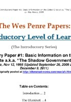 Introductory Level Of Learning. The Global Elite Aka The Shadow Government
