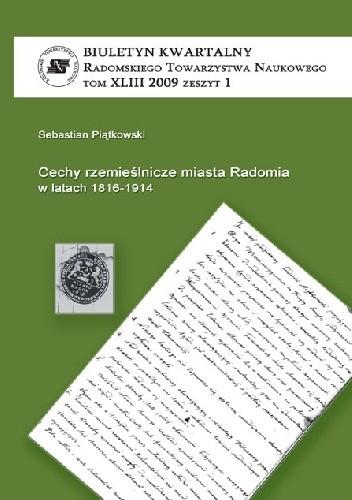 Okładka książki Cechy rzemieślnicze miasta Radomia w latach 1816-1914