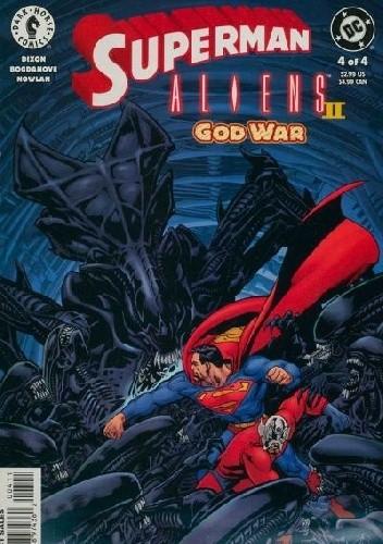 Okładka książki Superman vs.Aliens II: God War #4