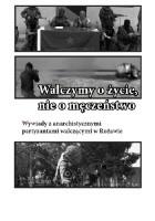 Walczymy o życie, nie o męczeństwo. Wywiady z anarchistycznymi partyzantami walczącymi w Rożawie.