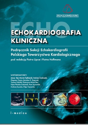 Okładka książki Echokardiografia kliniczna. Podręcznik Sekcji Echokardiografii Polskiego Towarzystwa Kardiologicznego