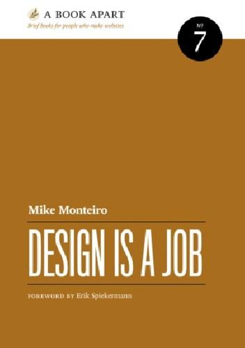 Okładka książki Design is a job