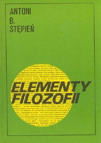 Okładka książki Elementy filozofii
