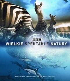 Okładka książki Wielkie Spektakle Natury. Reportaże przyrodnicze filmowców BBC