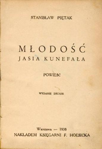 Okładka książki Młodość Jasia Kunefała