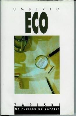 Okładka książki Zapiski na pudełku od zapałek