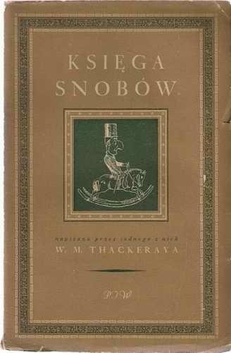 Okładka książki Księga snobów napisana przez jednego z nich
