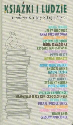 Okładka książki Książki i ludzie: Rozmowy Barbary N. Łopieńskiej