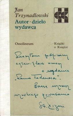 Okładka książki Autor, dzieło, wydawca.