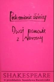 Okładka książki Poskromienie złośnicy. Dwaj panowie z Werony