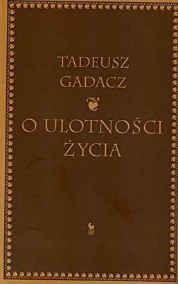 Okładka książki O ulotności życia