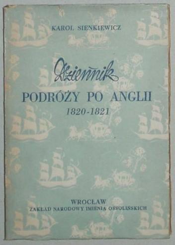 Okładka książki Dziennik podróży po Anglii 1820-1821