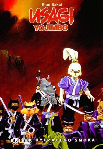 Okładka książki Usagi Yojimbo. Spisek ryczącego smoka