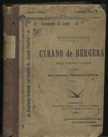 Okładka książki Cyrano de Bergerac. Komedya bohaterska w 5-ciu aktach - t. 1, 2