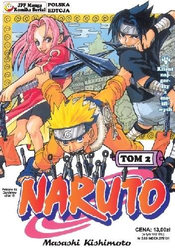 Okładka książki Naruto tom 2 - Klient najgorszy z możliwych