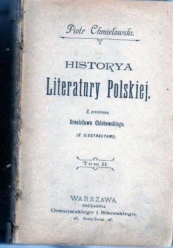 Okładka książki Historya Literatury Polskiej. Tom II