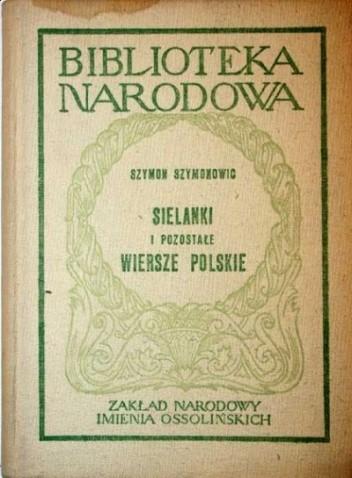 Okładka książki Sielanki i pozostałe wiersze polskie