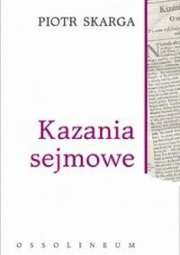 Okładka książki Kazania sejmowe