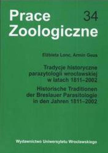 Okładka książki Tradycje historyczne parazytologii wrocławskiej w latach 1911- 2002