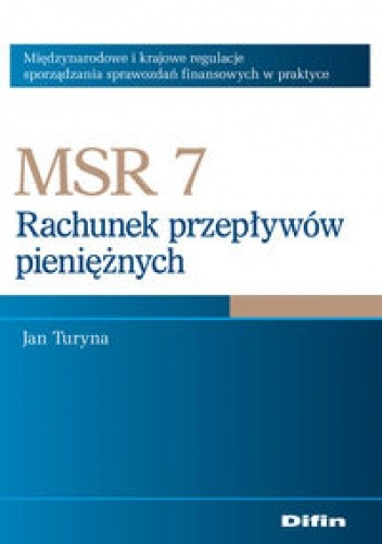 Okładka książki MSR 7. Rachunek przepływów pieniężnych