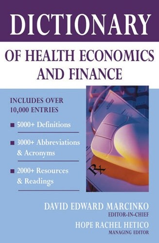 Okładka książki Dictionary of Health Economics and Finance