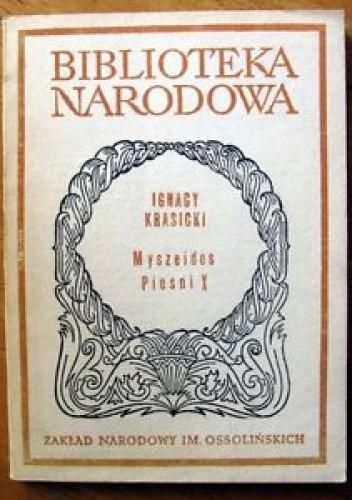 Okładka książki Myszeidos pieśni X