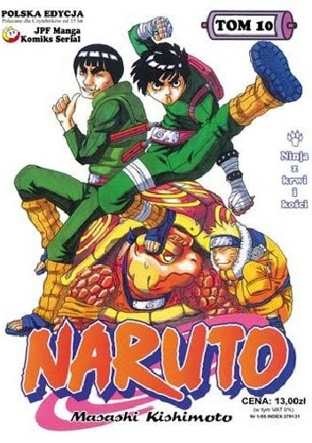 Okładka książki Naruto tom 10 - Ninja z krwi i kości