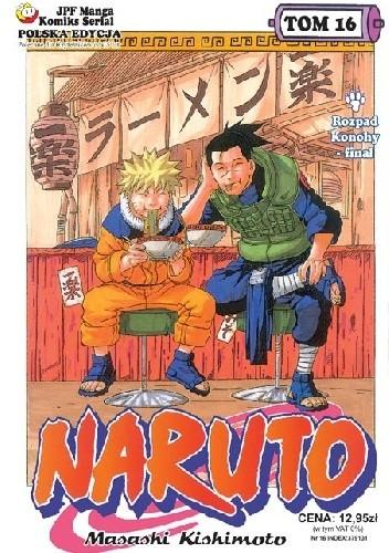 Okładka książki Naruto tom 16 - Rozpad Konohy - finał