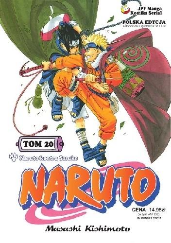 Okładka książki Naruto tom 20 - Naruto kontra Sasuke