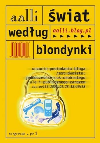 Okładka książki Świat według blondynki