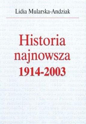Okładka książki Historia najnowsza 1914-2003