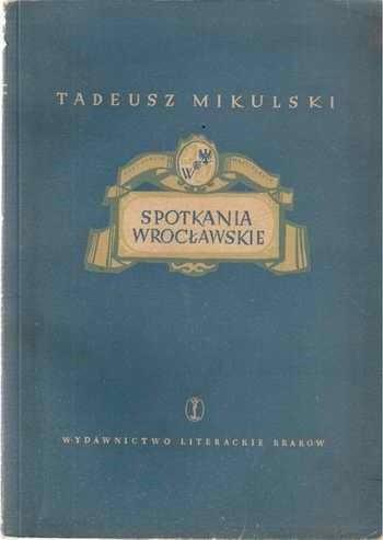 Okładka książki Spotkania Wrocławskie