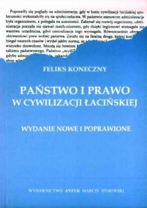 Okładka książki Państwo i prawo w cywilizacji łacińskiej
