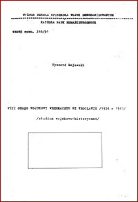Okładka książki VIII Okręg Wojskowy Wehrmachtu we Wrocławiu (1936-1945)