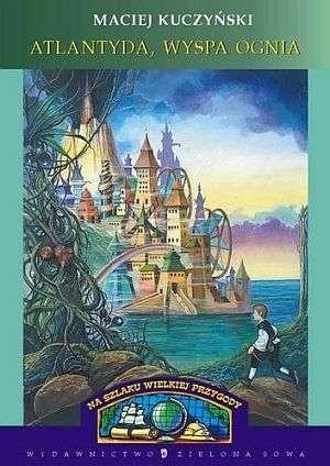 Okładka książki Atlantyda, wyspa ognia