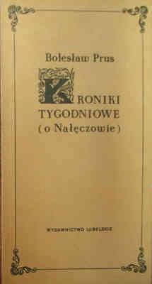Okładka książki Kroniki tygodniowe o Nałęczowie