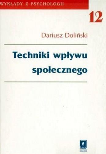 Okładka książki Techniki wpływu społecznego