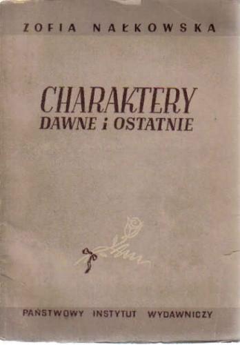 Okładka książki Charaktery dawne i ostatnie
