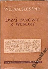 Okładka książki Dwaj panowie z Werony