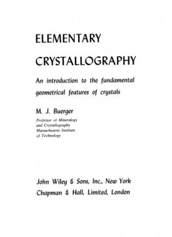 Okładka książki Elementary Crystallography
