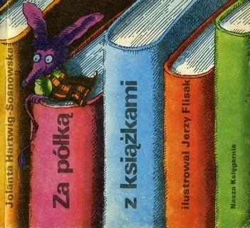 Okładka książki Za półką z książkami