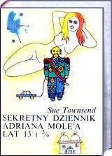 Okładka książki Sekretny dziennik Adriana Mole'a lat 13 i 3/4
