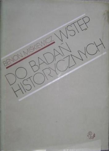 Okładka książki Wstęp do badań historycznych